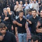 تجمع عزاداران امام صادق عليه السلام در روز شهات ايشان در محله مجيديه تهران (23(